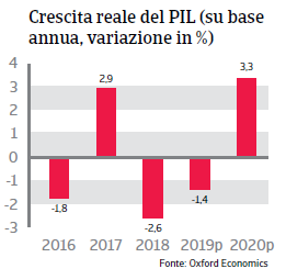 Rapporto Paese Argentina 2019 - Pil